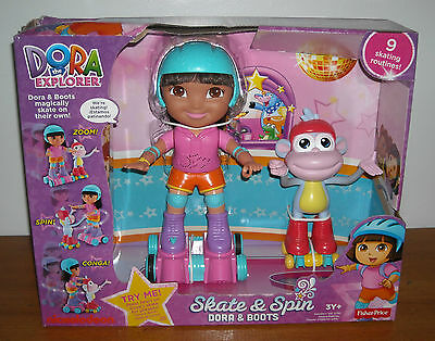 Brand New Dora The Explorer SKATE & SPIN DORA & BOOTS Magically Skate