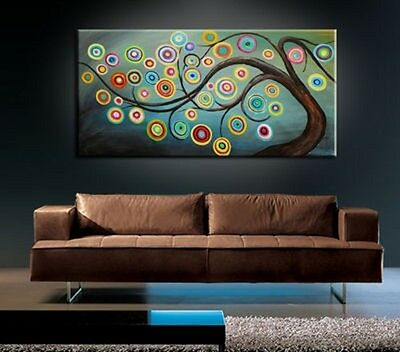 BEAUTIFUL MODERN ABSTRACT HUGE LARGE CANVAS ART OIL PAINTING Style 235