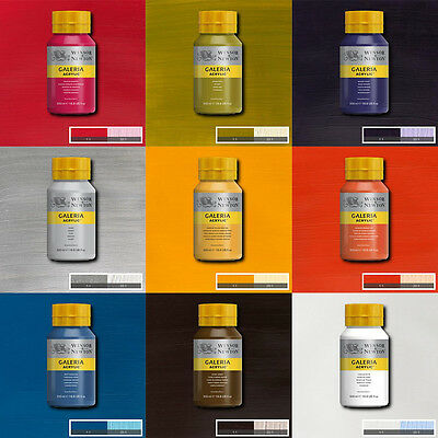 Winsor & Newton Galeria Acrylic Paint 500ml  Available in 31 Colours SALE