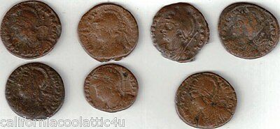 1- Ancient Roman Coin OF CONSTANTINOPOLIS 330-346 AD 1st Christian Emperor