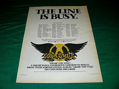 "AEROSMITH ""Draw The Line"" POSTER Size PROMO AD @ 1977 Classic AOR Rock"