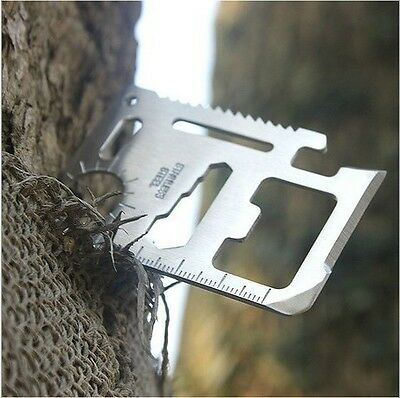 11 in 1 Multi Credit Card Survival Knife Camping Tool useful