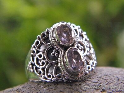 Pink Kunzite & 925 SOLID Silver RING (Size 8, P 1/2)    #160336