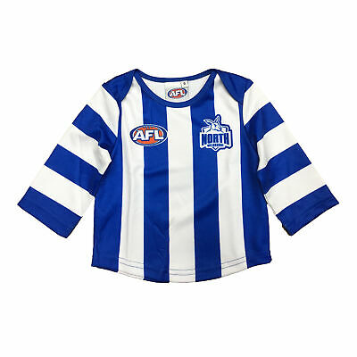 Official AFL North Melbourne Kangaroos Baby Toddler Footy Jumper Guernsey