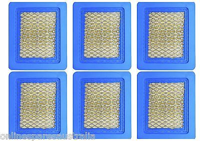 6 Lawn Mower Air Filters fits Briggs and Stratton Quantum & replace 491588