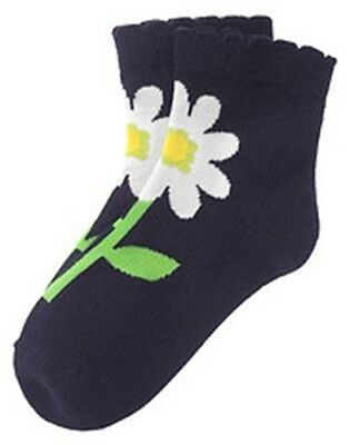 NWT 5 6 7 yr 5-7 Gymboree WISH YOU WERE HERE Navy Flower Socks