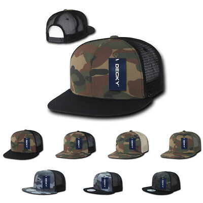 Decky Army Camouflage Camo Flat Bill Trucker Hats Caps 6 Panel Snapback 8f5eab2a124f