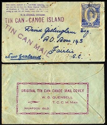 Tonga Tincan Mail To New Zealand Cover S27