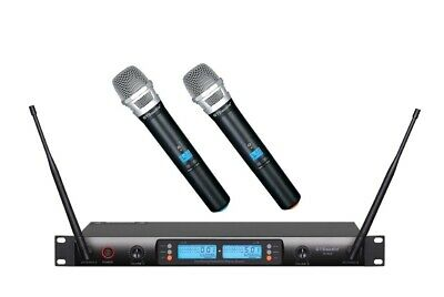2x800 Channel UHF Diversity Wireless Hand held Microphone Mic System G-733H