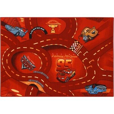 Kinderteppich Cars 2 World of Cars Teppich Straßenteppich Teppich 95x133 cm rot