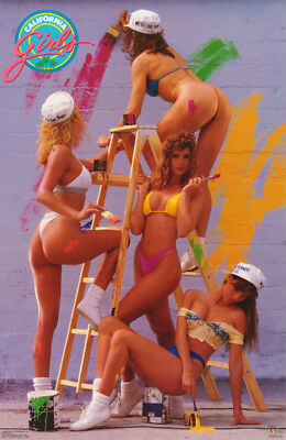 Poster: California Girls - Paint - Sexy Female Models  Free Ship    #3176  Rc6 S
