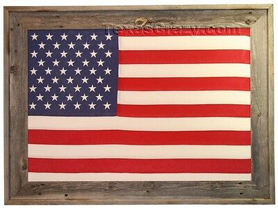 Buy Large Barnwood Framed 2 x 3 US Flag