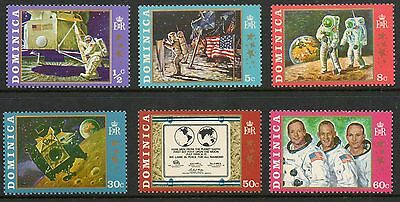 Dominica 1970 Moon Landing SG296-301 unmounted mint set stamps