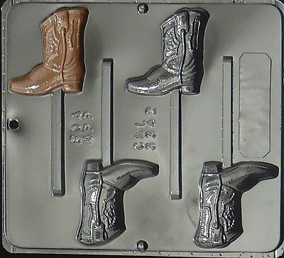 Cowboy Boot Lollipop Chocolate Candy Mold   3342 NEW