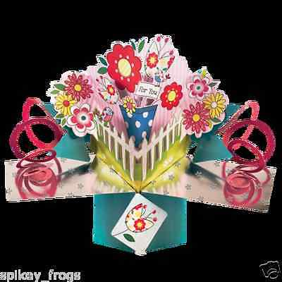 """*new* Greeting Card """"for You"""" Flower In Pot Cards Design 3D Pop Up Card"""