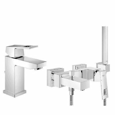 grohe eurocube einhand armaturen set f r waschtisch und badewanne 23127 23141 eur 365 00. Black Bedroom Furniture Sets. Home Design Ideas