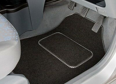 Peugeot 407 (2004 - 2010) Tailored Car Mats With Silver Trim (1225)