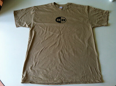 Rb Rollerblade Inline Skate Vintage Tee Shirt, Black On Brown, Xl