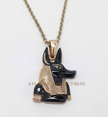 Lead Free Ancient Egyptian Anubis Jackal Dog Pendant Necklace Jewelry Accessory