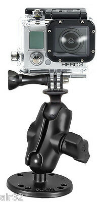 RAM Flat Suface Mount & Adapter for GoPro Hero Cameras