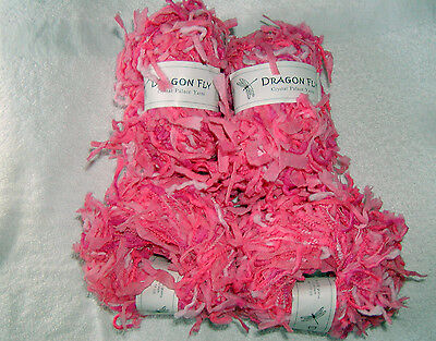4 SKEINS - Crystal Palace - DRAGONFLY - COTTON CANDY~ Color # 9601B