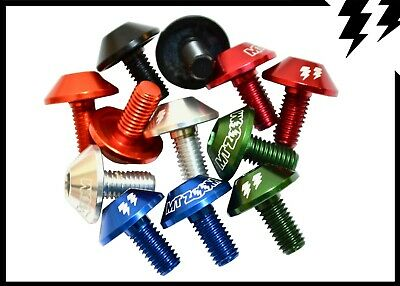 MT ZOOM SHROOM BOTTLE CAGE BOLTS X 2 red silver black green (Cannondale/Hope)