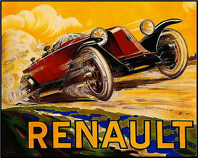 French Renault Automobile Car Advertisement Art Poster Print