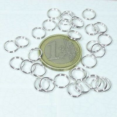375 Anillas Dobles Plata 8mm  T11A Double Jump Rings Beads Anneau Anelo Llavero
