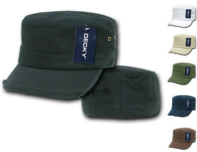 Decky BDU G.I. US Military Patrol Cadet Army Distressed Fitted Hats Caps