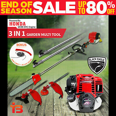 Honda GX35 Petrol Engine Pole Chainsaw Brush Cutter Whipper Snipper Saw