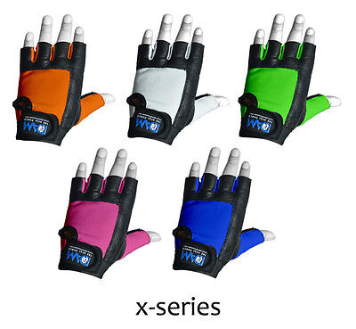 Dam Weight Lifting Gloves White, Blue, Pink, Orange, Green Gym Exercise Fitness
