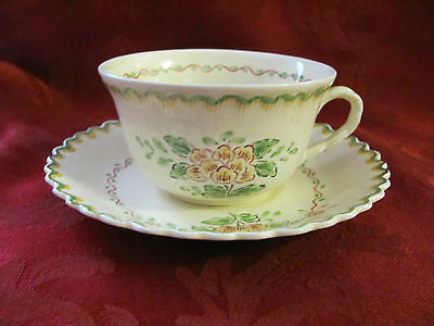 Adams Royal Ivory Titian Ware cup & saucer set red yellow green England