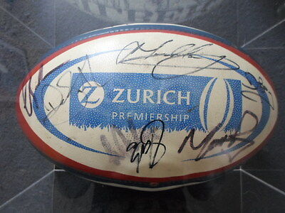 2002 Zurich Premiership Bath Squad Signed Rugby Union Match Ball with COA