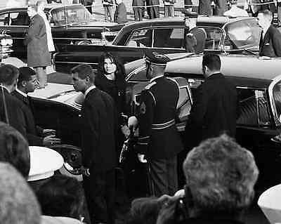 Jackie Bobby and Ted walk in President Kennedy/'s funeral JFK New 8x10 Photo
