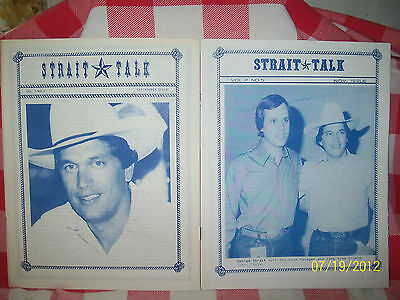 "George Strait  ""STRAIT TALK""  Vol 2  No 5  & Vol 3  No 5    JA 9"