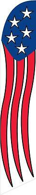 American Glory (5 stars top) 12ft Feather Banner Swooper Flag - FLAG ONLY