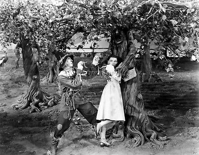 RAY BOLGER & JUDY GARLAND FILM STILL FROM 'THE WIZARD OF OZ' 8X10 PHOTO (EP-982)