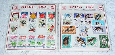 Romanian   Thematic   Birds   &    Flowers    Stamps    2  Packets = 30   Stamps