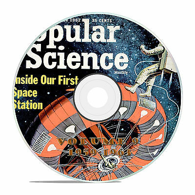 Classic Popular Science Magazine, Volume 9 DVD, 1959-1963, 60 issues, V09