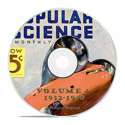 Classic Popular Science Magazine, Volume 4 DVD, 1932-1940, 101 issues, V04