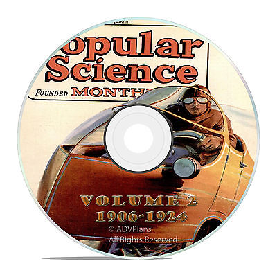 Classic Popular Science Magazine, Volume 2 DVD, 1906-1924, 206 issues, V02