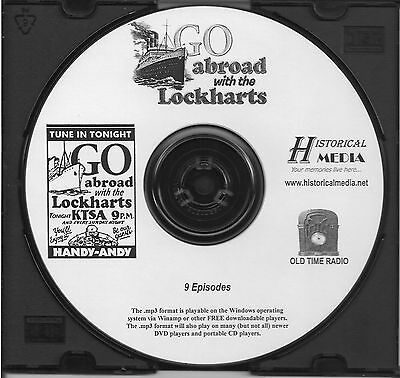ABROAD WITH THE LOCKHARTS - 9 Shows - Old Time Radio In MP3 Format OTR On 1 CD