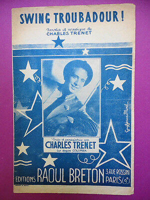 Partition : Swing Troubadour / Charles Trenet