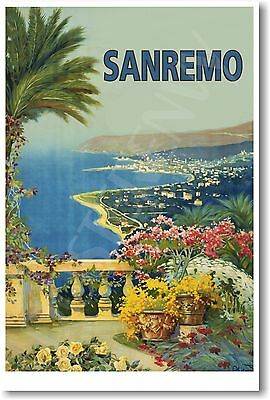 San Remo - Italy - Vintage Italian Travel Art Print - NEW POSTER - Great Gift