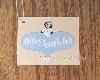 Made For 1950's Ideal SHIRLEY TEMPLE Doll , A WRIST hang TAG 1st Issue