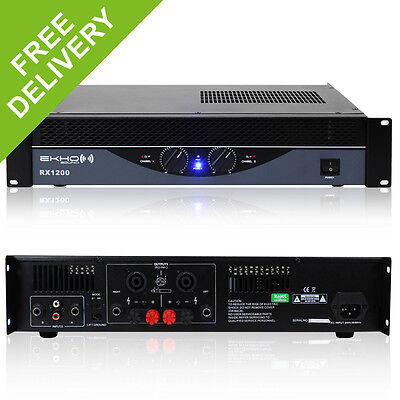 New Ekho Pro RX1200 Power Amplifier - DJ Disco PA Bridge Amp 4800W 4.8kW IPP