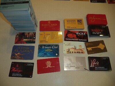 3 Used Mgm Mirage Casino And Hotel Las Vegas Nv Players Club Card