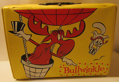 Vintage 1962 Bullwinkle and Rocky Vinyl Lunchbox, nice