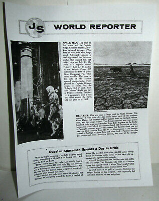 Virgil Gus Grissom Project Mercury Magazine Article '61