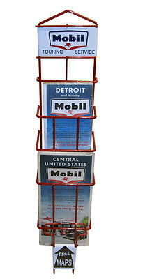 Mobil Gas Map Rack oil filling service STATION DECOR